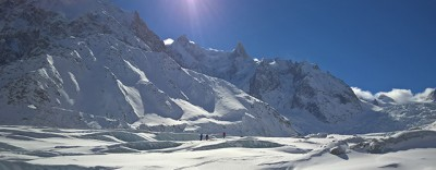 Vallée Blanche in a group
