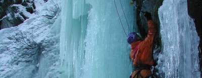 Ice climbing initiation day